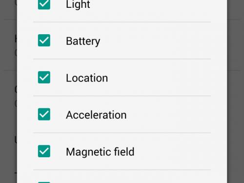 Tutti i sensori in Android