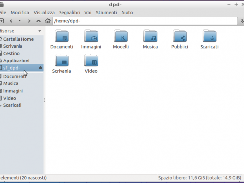 VirtualBox: cartelle condivise su guest Linux